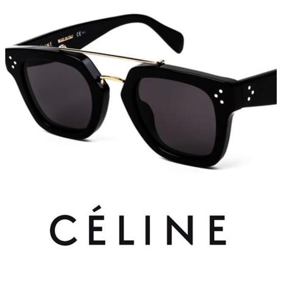 5c4a4a7b2e5 New Authentic Celine Bridge Sunglasses In Black